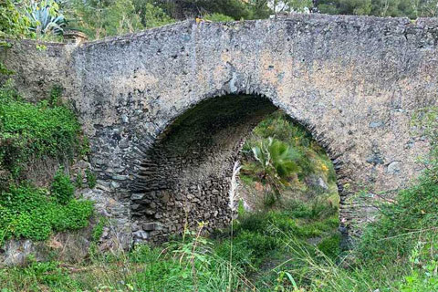 Monuments - Roman Bridge, Almunecar - Spain